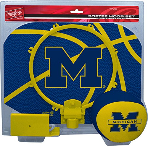 Michigan Wolverines Ncaa Basketball - NCAA Michigan Wolverines Kids Slam Dunk Hoop Set, Blue, Small