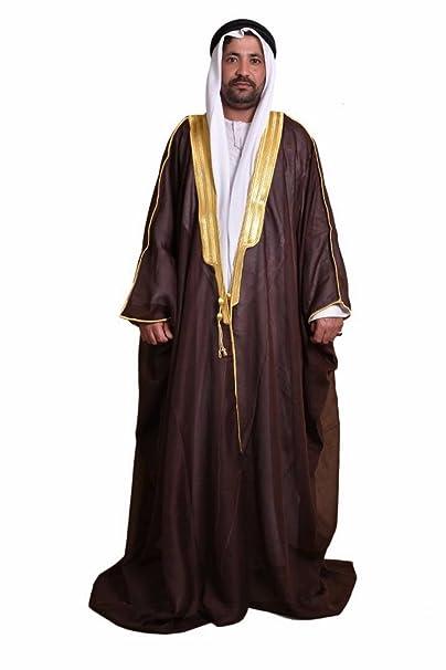 Al Aseel Amazing Best Quality Mens Islamic Arabian Cloak Bisht thobe Eid  (Dark Brown) 7781d2118