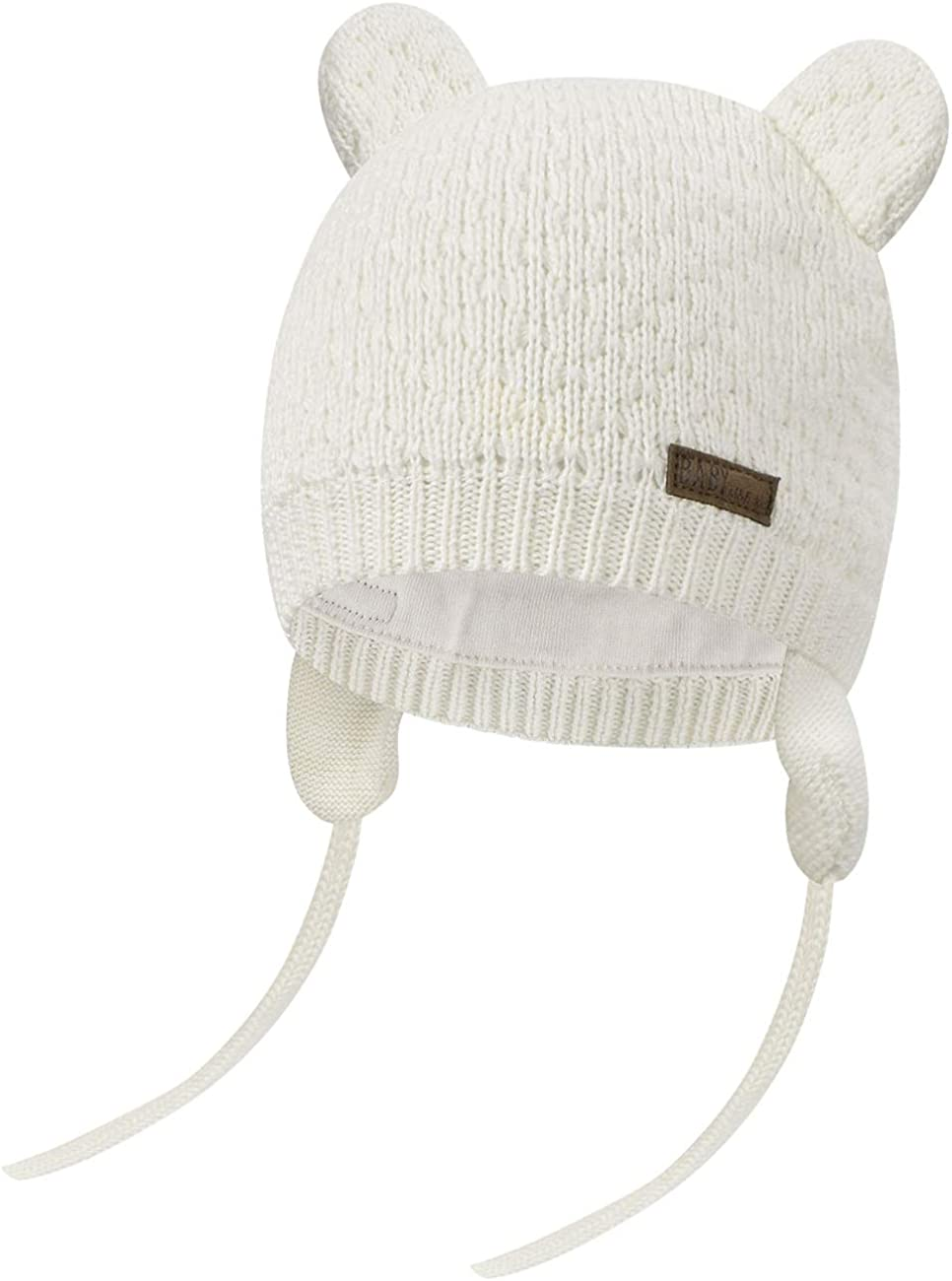 Heekpek Baby Winter Hat Warm Knitted Earflap Cap Beanie Cute Bear Caps s for 0-3 Year Old Month Toddler Boys Girls