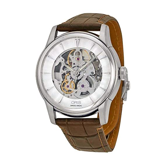Oris Artelier Automático Esqueleto Dial Acero inoxidable Acero Mens Reloj 73476704051