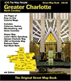 Charlotte, North Carolina Streed Map Book, ADC, the Map People Staff, 0875306098