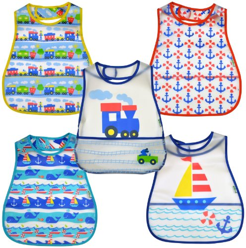 green sprouts by i play. Scenic Eva Bib - Boy - Boy - 5 ct (Amazon Elements Diapers compare prices)