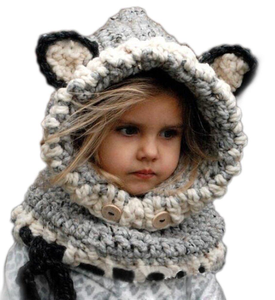 Arrowhunt Kinder Junge Mädchen Schalmütze Tier Mütze: Amazon.de: Baby