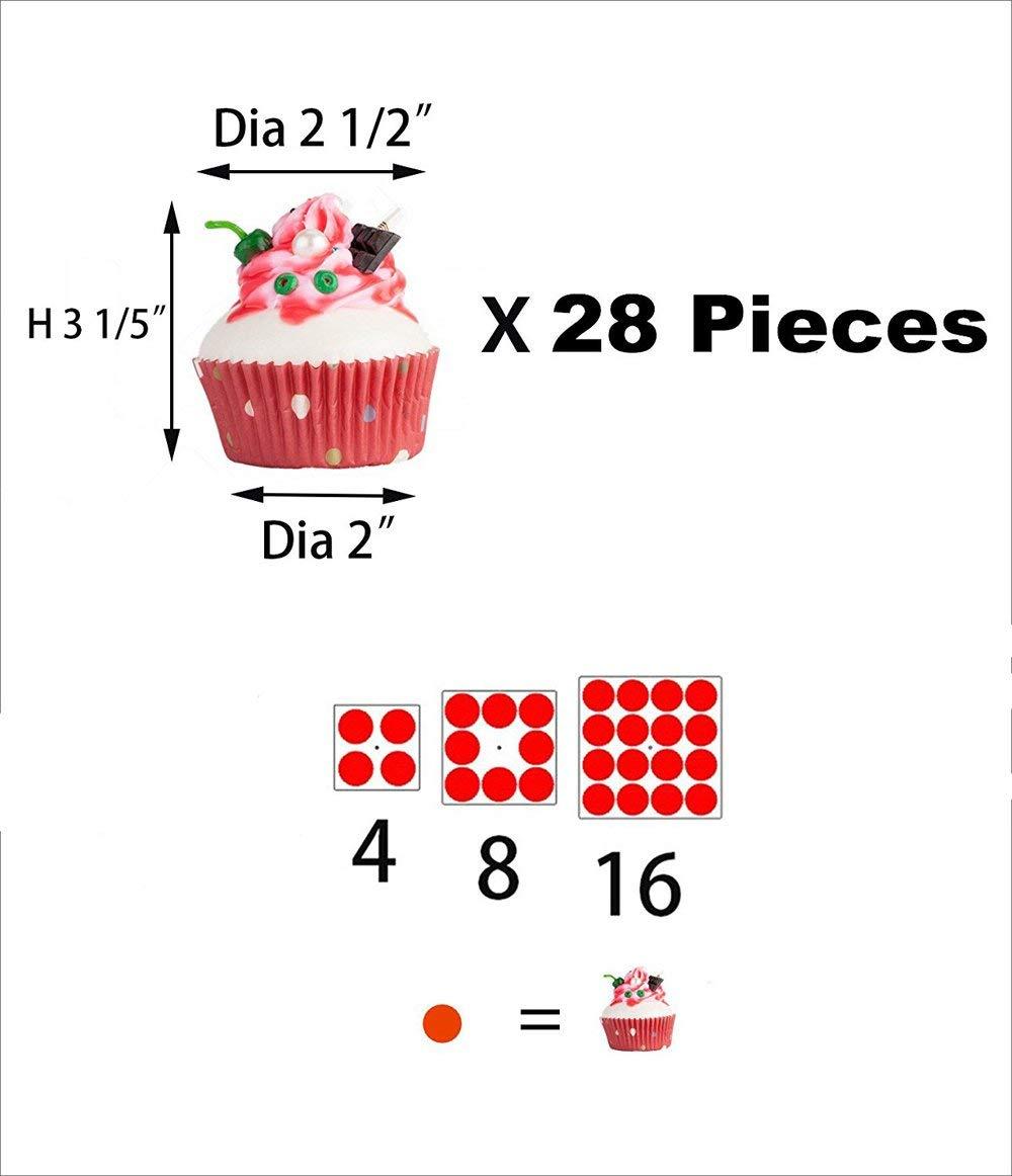 Kuchenst/änder 3-Stufig Acryl Halten sie Cupcakes Desserts f/ür Nachmittagstee Party Baby Duschen Hochzeiten Cupcake St/änder Platz