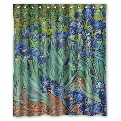 Artsplaza Polyester Art Painting Vincent Willem Van Gogh Irises 1889 Bathroom Curtains Width X Height / 60 X 72 Inches / W H 150 By 180 Cm Gift Or Decor ()