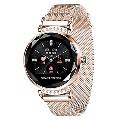 Amazon.com  Smart watch H2 Women 3D Diamond Glass Heart Rate Blood ... 80f5b94da0