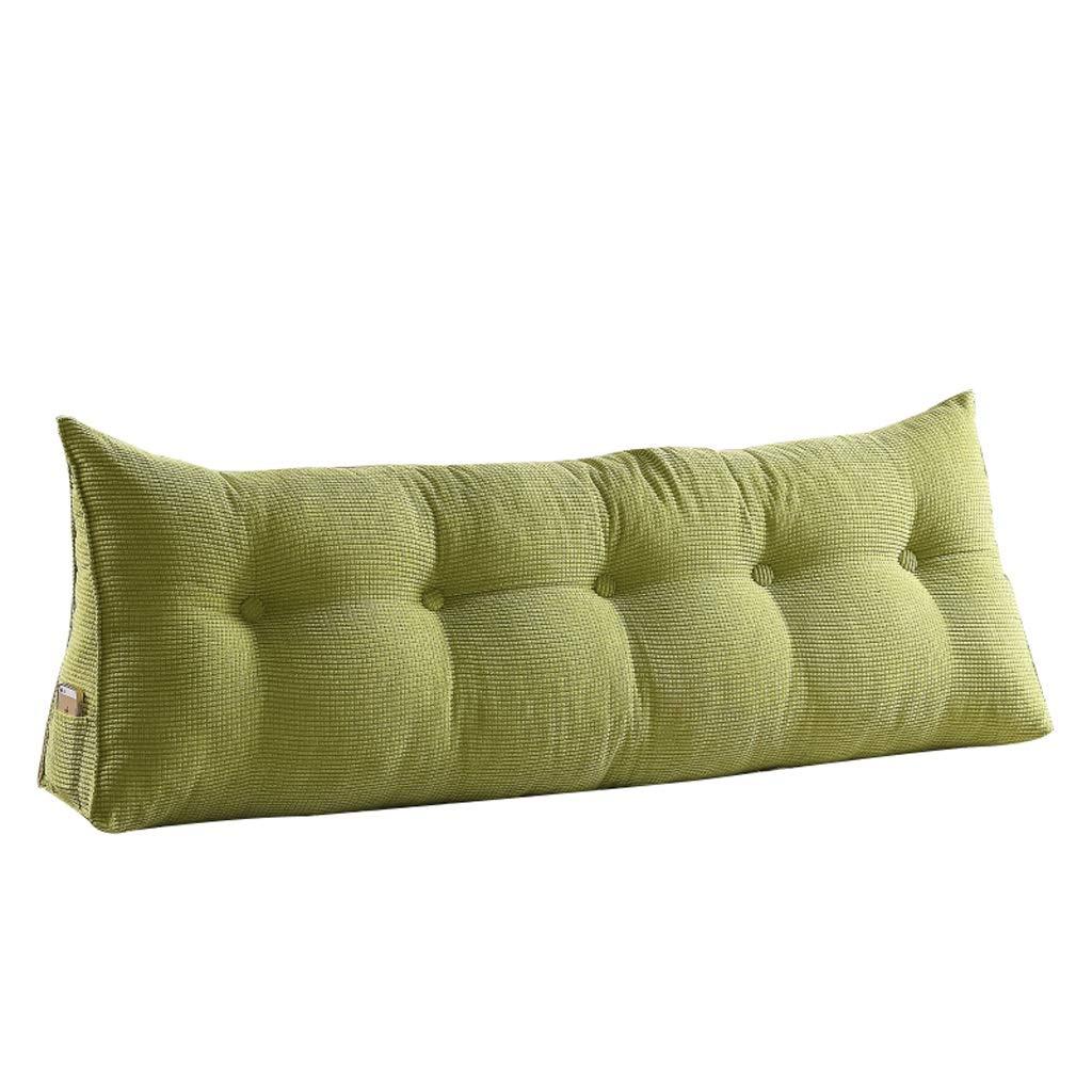 GXY Modernes Bett Kopfkissen Doppelt Grün Unabhängig Stoffbezug Lendenkissen Kissen (größe : 180cm)