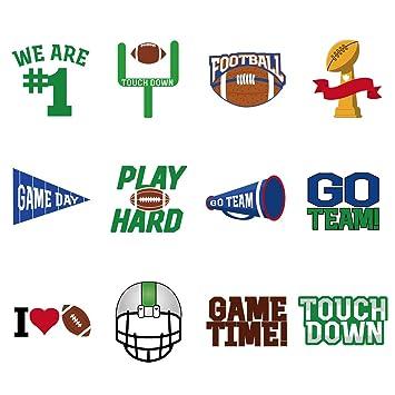 BESTOYARD 72 Pcs Super Bowl Face Tattoos Stickers Football Face Tattoos  Super Bowl...