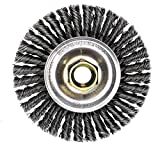 Weiler 13131 ROUGHNECK MAX 4'' Stringer Bead Wire Wheel, .020'' Steel Fill, 5/8''-11 UNC Nut, Made in USA