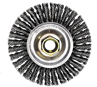 Weiler Dualife Narrow Face Wire Wheel Brush Threaded Hole Stringer Wire Steel