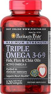 Amazon.com: Puritan s Pride Fuerza máxima. Triple Omega 3 ...