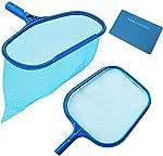 Rongbo Deep-Bag Pool Rake & Swimming Leaf Skimmer Net with Medium