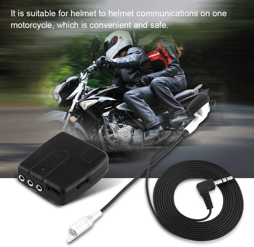 GPS Intercom pour casque moto syst/ème de communication Bluetooth Interphones casque avec microphone pour coureurs radio FM appels t/él/éphoniques dassistance