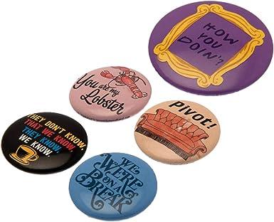 Friends - Pack de chapas (Talla Única) (Multicolor): Amazon.es: Ropa y accesorios