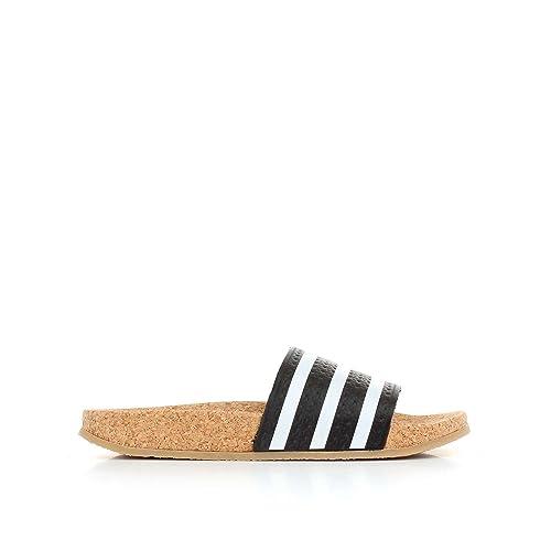 newest 3217c 78e42 Chanclas adidas - Adilette Cork W Negro Blanco Caramelo Talla  43   Amazon.es  Zapatos y complementos