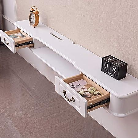Mueble TV de pared Estante de la pared Estante flotante sala de estar Mueble de pared colgante enrutador Set-top box Caja de cable Sky box Gabinete de almacenamiento Estante de TV: Amazon.es: