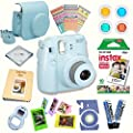 Fujifilm Instax Mini 8 Deluxe kit bundle Includes -Instant camera with Instax mini 8 instant films (10 pack) - Custom Camera Case - instax Album - Frames - Stickers - Close up lens + MORE … from Quality Photo