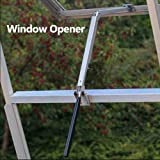 ONEVER Window Vent Opener 7kg Agricultural Greenhouse Solar Powered Automatic Roof Opener Garden Tools
