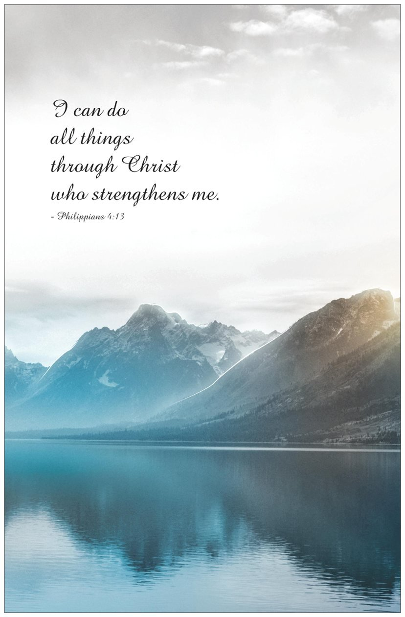Christian Bible Verse I Can Do All Things Through Christ Who Strengthens Me 11 X 17 Amazoncouk Kitchen Home