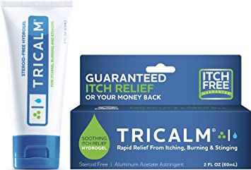 TriCalm Soothing Steroid-Free Anti-Itch Hydrogel for Bug Bites, Eczema, and  More, Contains No