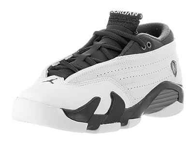 outlet store c1766 4a260 Jordan Nike Kids Air 14 Retro Low PRM Gg Phantom WHT Drk Strm MTLC Pwtr