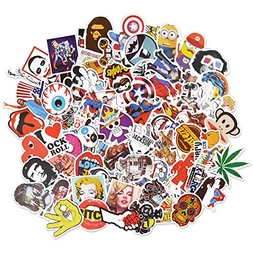 LUDILO 200pcs Stickers Vinyl Laptop Stickers Luggage Decals Car Stickers Hippie Waterproof Vinyl Decals Motorcycle Bicycle Decals Skateboard Graffiti Patches for Adults Kids Party Favors Supplies by LUDILO