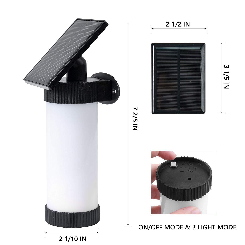 Elivern Solar Lights,Led Flame Light, Waterproof Outdoor Light Sensor Solar Light, Perfectly Decorative Lights for Garden, Landscape, Patio and Driveway