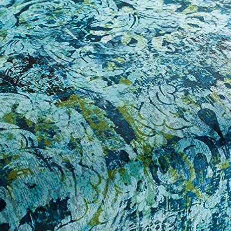Chivasso Tela de tapicería Yin patrón Abstracto Color Azul ...