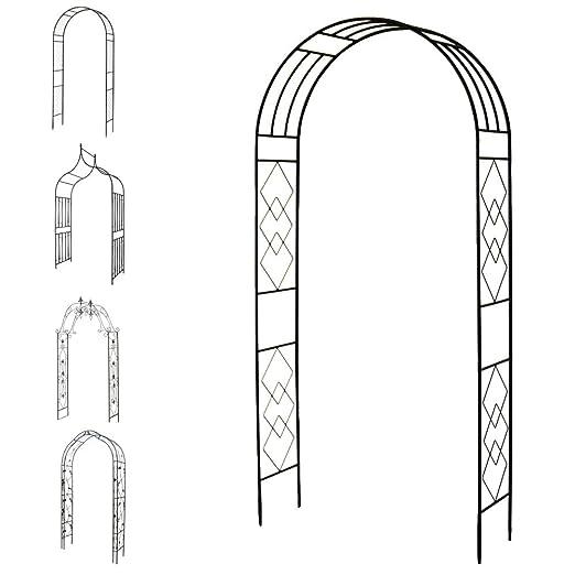 1PLUS - Arco para jardín (Metal oxidado Pergola espaldera ...