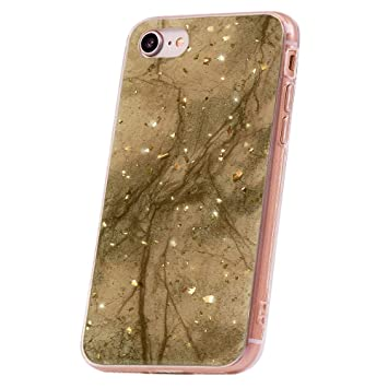 QULT Carcasa para Móvil Compatible con iPhone 6 Plus iPhone 6S Plus Funda marmol Oro Ecru Silicona Flexible Bumper Teléfono Caso para iPhone 6/6S Plus ...