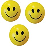 Albagajjar Smiley Face Squeeze Ball (Yellow) - Set of 3