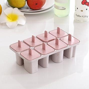 Compra Protección del medio ambiente y cubos de hielo no tóxicos/caja de hielo/molde para paletas caseras/creativa cubierta con palitos de helado-B en ...