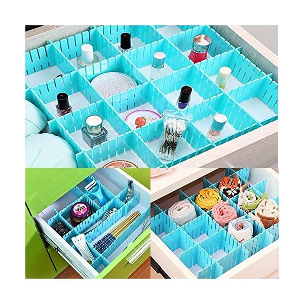 61YCDZfKguL WeFoonLo 8pcs DIY Plastic Drawer Organizer Verstellbare Schubladenunterteiler für ordentliche Schränke, Socken…