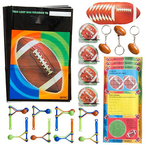 Championship Football 48-piece Value Party Favor Pack