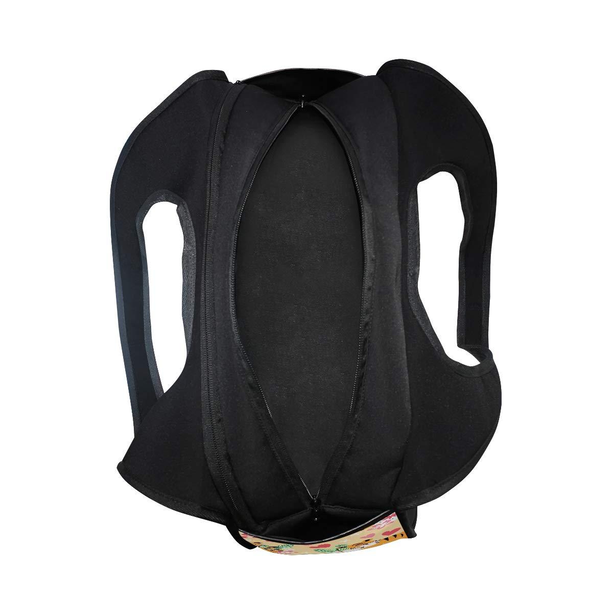 Cartoon Tiger With Floral Pattern Women Sports Gym Totes Bag Multi-Function Nylon Travel Shoulder Bag