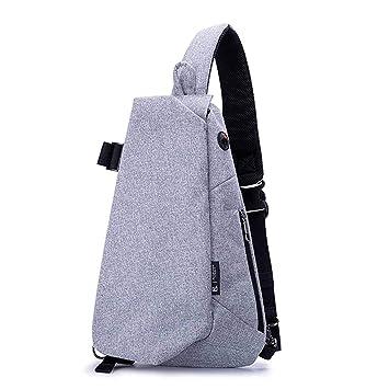 Amazon.com: Bolsas de hombro macho USB de carga para hombres ...