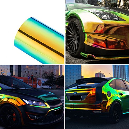 Metallic Color Glossy Colorful DIY Car Body Films Vinyl Car Wrap Sticker Decal Air Release Film 1.35Mx20CM