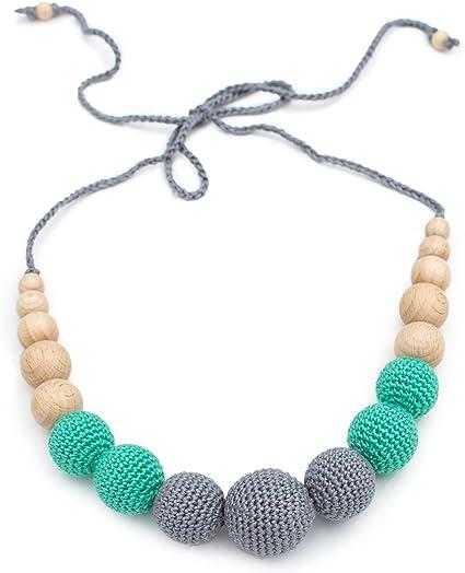 3pcs Teether Nursing Breastfeeding Necklace Pendant Chewable Teether Toys