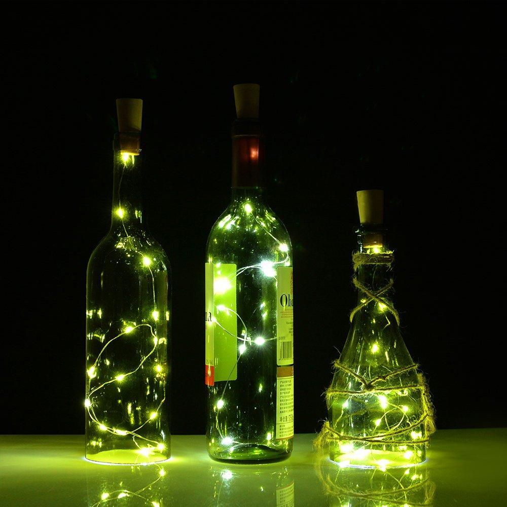 Amazon.com: Wine Bottle Lights with Cork,LED Cork Lights for Bottle, AGPtEK  Copper Wire Starry Fairy Lights, for Christmas, Decoration,DIY, Party, ...