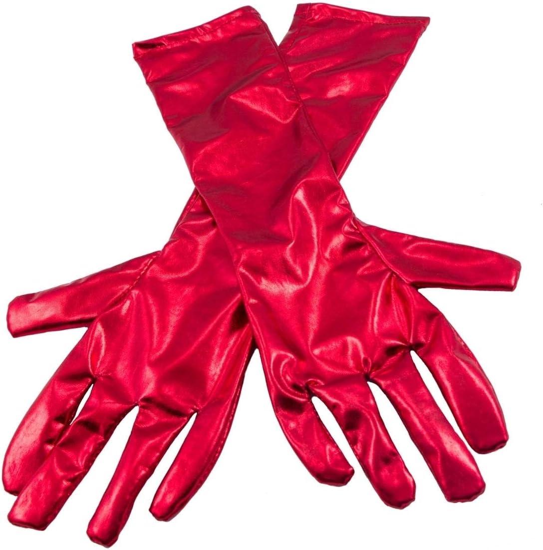 Guanti rosso metallizzato