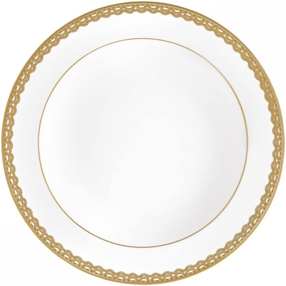 Waterford Lismore Lace Gold Rim Soup 9""