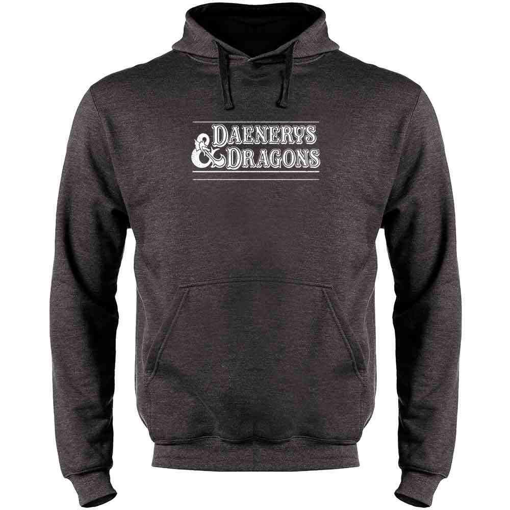 Daenerys and Dragons Mens Fleece Hoodie Sweatshirt