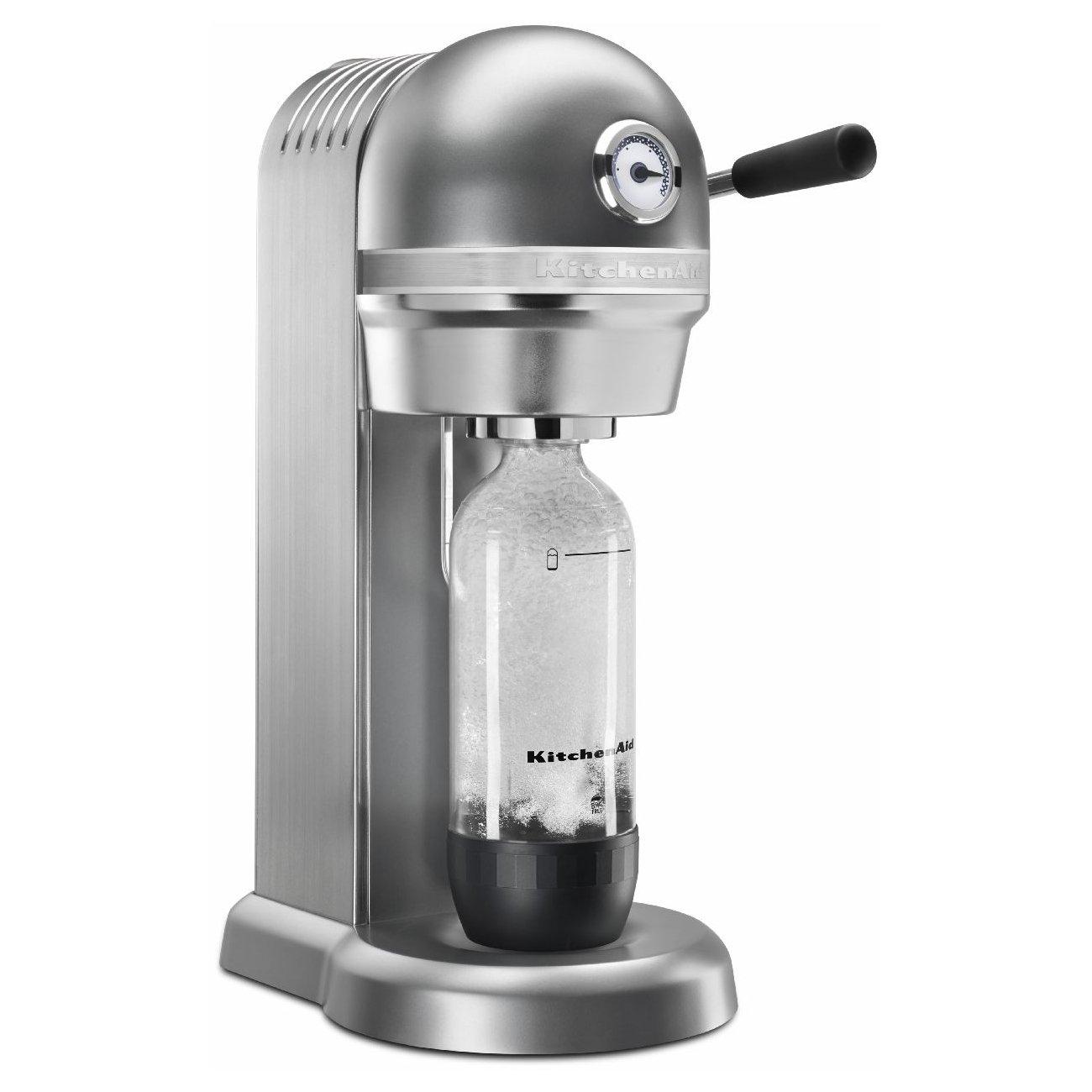 KitchenAid KSS1121CU Sparkling Beverage Maker, Contour Silver by KitchenAid