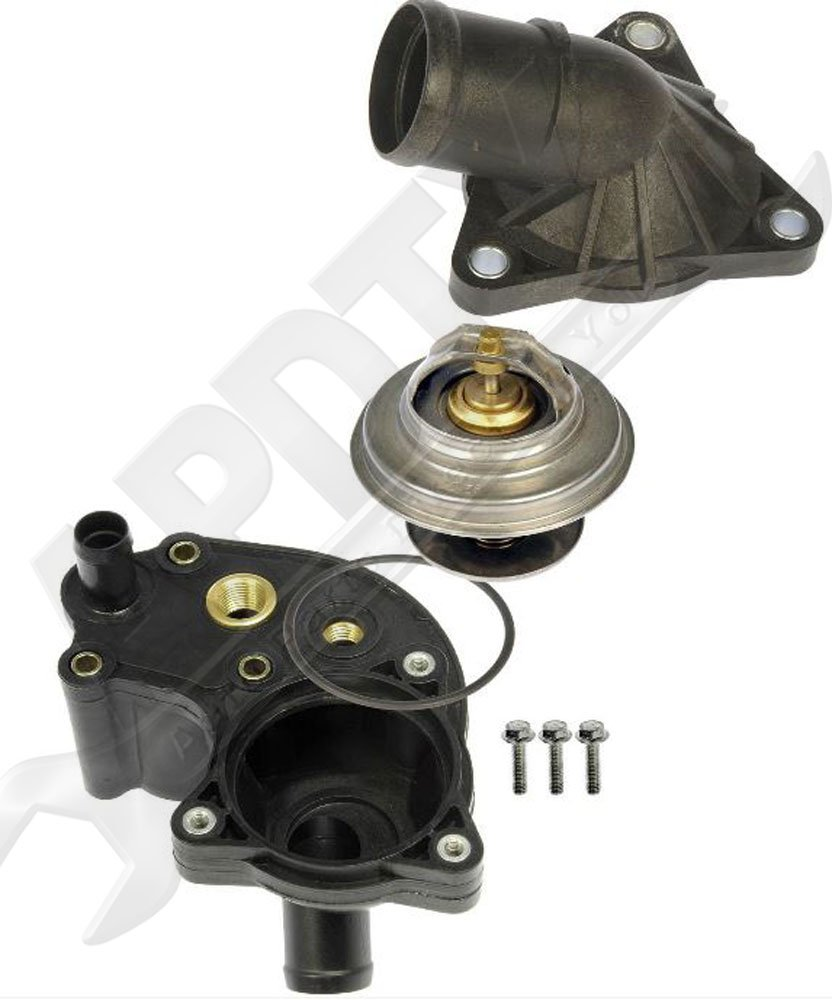 Apdty 013315 Thermostat With Upper Lower Water Outlet Housing O Ring Gaskets Fits 1997 2001 Ford Explorer Ford Ranger Mercury Mountaineer 4 0l