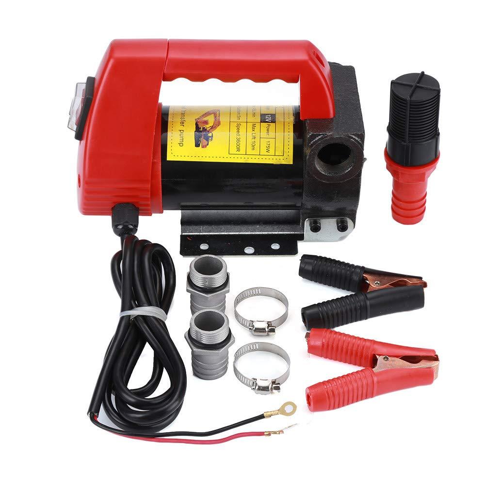 Turefans Pompa di trasferimento, Pompa Gasolio ,175 W, 12V, 40 L/min, per Auto/Moto / Veicolo, Pompa di erogazione portatile di carburante, Potente Pompa Gasolio , 175 W