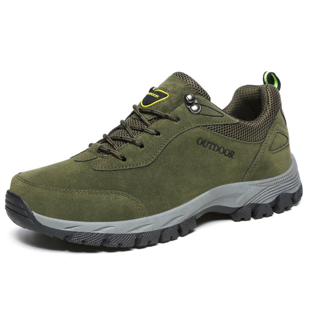 Zapatos atléticos con Cordones Resistentes al Desgaste para Hombres 46 EU|Army Green