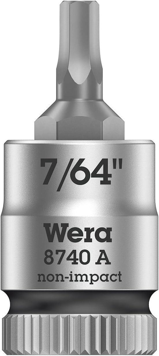 7//64 Wera 05003382001 8740 A Zyklop vaso de punta hexagonal con arrastre de 1//4