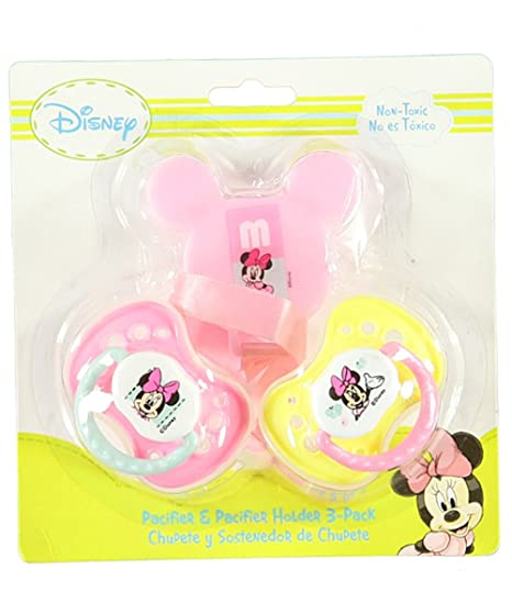 Minnie Mouse Little Sweetie Pacifier & Clip - pink, one size by ...