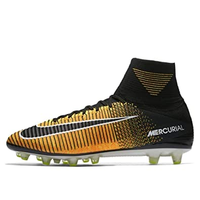 newest 9ed4a 12d20 Amazon.com   Nike - Mercurial Superfly V DF AG Pro - 831955801 - Color   Black-Orange-Yellow - Size  11.5   Soccer
