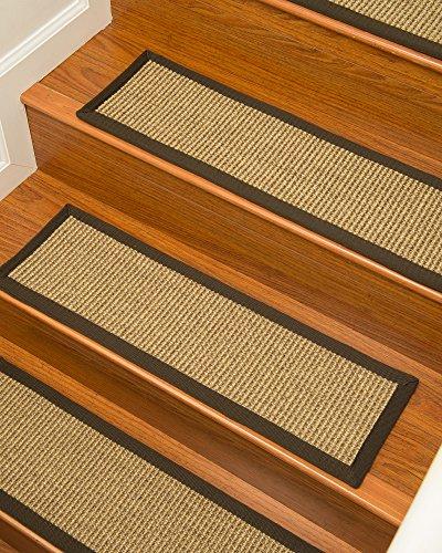 NaturalAreaRugs Tara Sisal Carpet Stair Treads 9'' x 29'' Set of 13 by NaturalAreaRugs